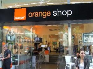 הכניסה לחנות Orangeshop בלונדון מיניסטור