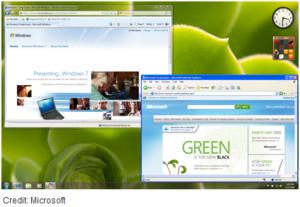חלון דפדפן פתוח ב-XP Mode. מקור: Microsoft