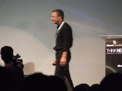 משה ליכטמן על הבמה