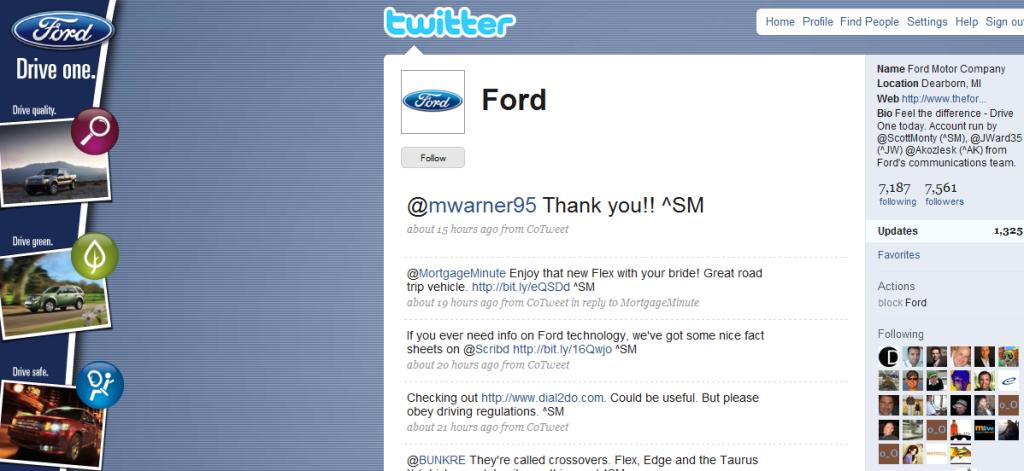 פורד- לכל חטיבה יש טוויטר. בראש עומד מנהל המדיה החברתית. להפנים ולבצע.