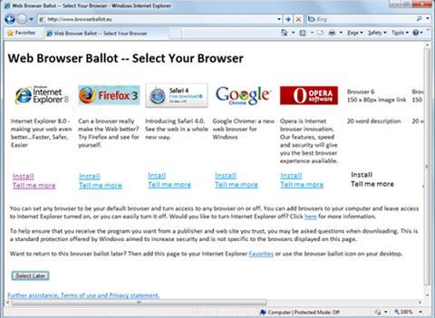 web browser ballot  מקור:arstechnica