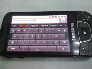 מקלדת אנדרואיד משולבת עם חיזוי טקסט (אנגלית בלבד)