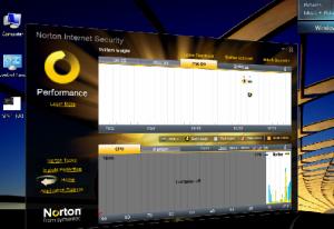 המסך המסתובב של internet security 2010