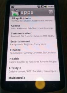Android Market on Nexus One
