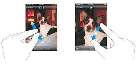 מולטי-טאץ' באייפון (מתוך אתר אפל). יעלם בקרוב?