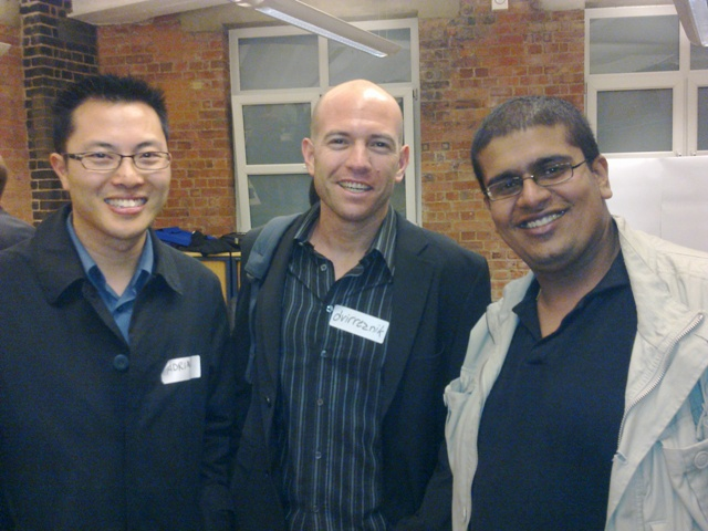 With Adrian and Nirave at 1000Heads HQ
