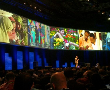 Niklas Savander, EVP, Markets, Nokia, on stage at Nokia World 2010