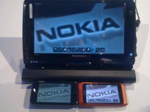 משחק ארגז חול - מוצג על הנוקיה N8, נוקיה N900 ומחשב לוח המריץ חלונות 7