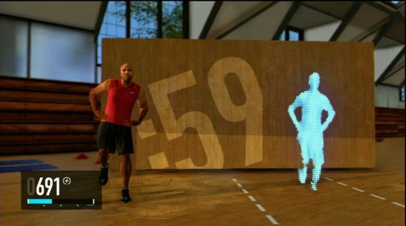 Nike plus kinect training