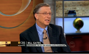 גייטס ב-CBS. צילום מסך