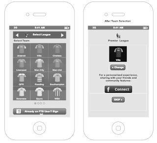 תמונות מתוך שלב העיצוב הראשוני של האפליקציה