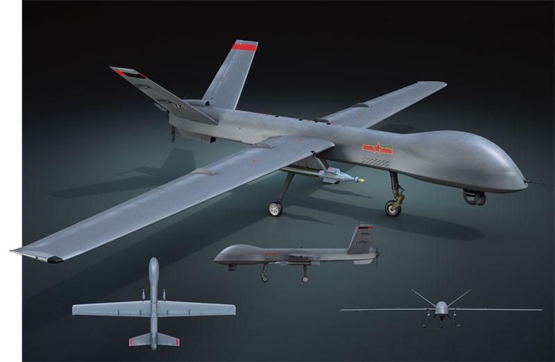 """מל""""ט ה-Pterodacty של סין מזכיר מאוד את הפרזנטור של צבא ארצות הברית. נראה שהוא תוכנן לטיסות ארוכות בגובה בינוני למשימות איסוף מודיעין ותקיפה"""