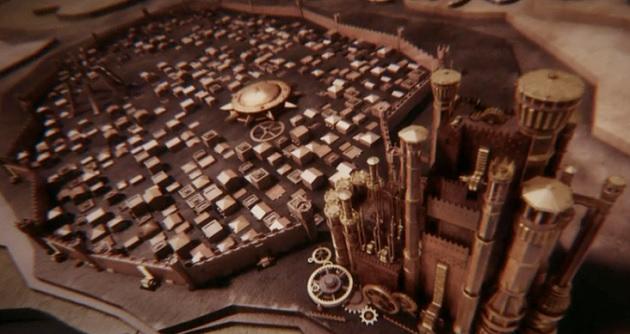 המפה מהפתיח של משחקי הכס. צילומסך