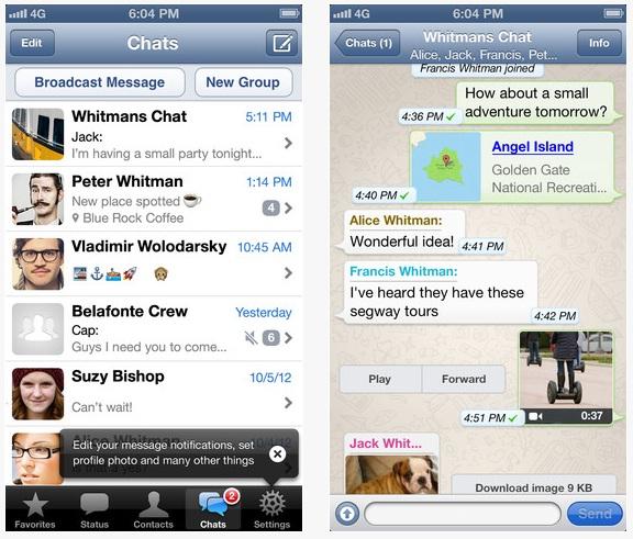 שיחה ב-Whatsapp (צילום מסך)