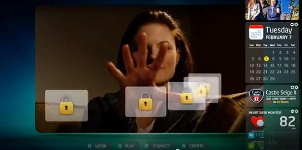 צילומסך. Intel Perceptual Computing