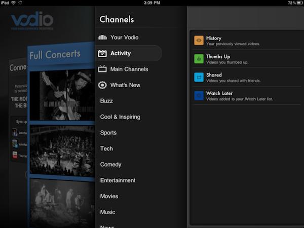 """אפליקציית ה-iPad של Vodio. מקור: יח""""צ"""