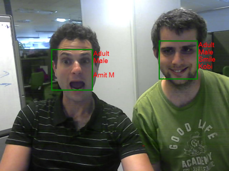 הדגמת זיהוי הפנים