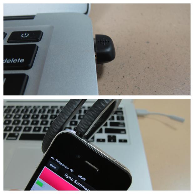למעלה: דונגל הסנכרון האלחוטי של פלקס למחשב, למטה: חיבור האפ ישירות לסמארטפון (תמונה: גיקטיים)