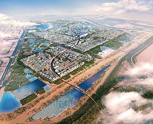 """תמונה: אילוף המדבר. ב-2025, כשבנייתה תסתיים, תשכן מסדאר סיטי 40,000 תושבים בחמישה קמ""""ר של בניינים בעלי טביעת רגל פחמנית נטרלית. צילום: מדע פופולארי"""
