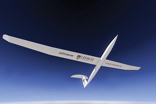 מסלול דאייה. ה-JetStreamer שנמצא בפיתוח באוניברסיטת להיי, ישאב אנרגיה מהפרשי מהירויות רוח, כך שיוכל לדאות עם מעט או ללא דלק. תמונה: מדע פופולארי