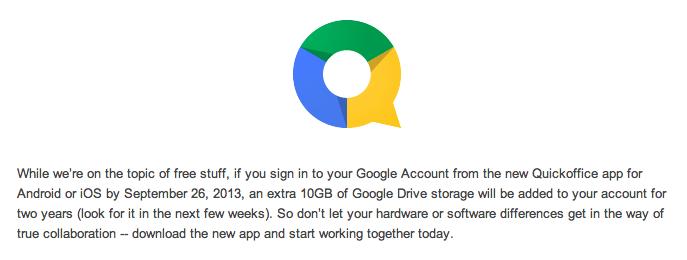ההודעה בבלוג גוגל על בונוס ה-10GB. תוספת לנפח האחסון תנתן תוך מספר שבועות ולא באופן מיידי. העזרו בסבלנות