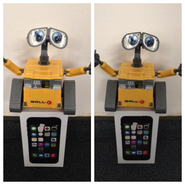 מימין: האייפון 5S, משמאל: האייפון 5