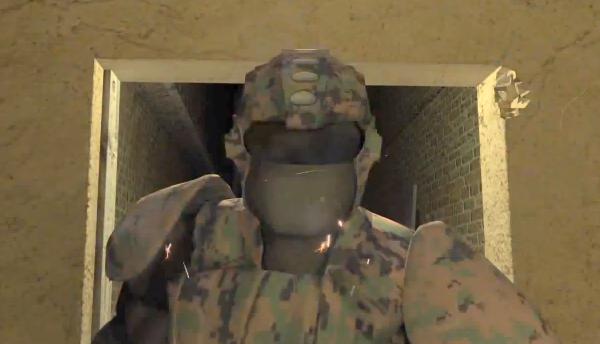החליפה בפעולה. מקור: צילום מסך מהסרטון המצורף