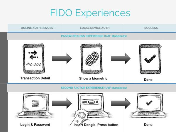 """חווית הזיהוי הביומטרי של FIDO. מקור: יח""""צ"""