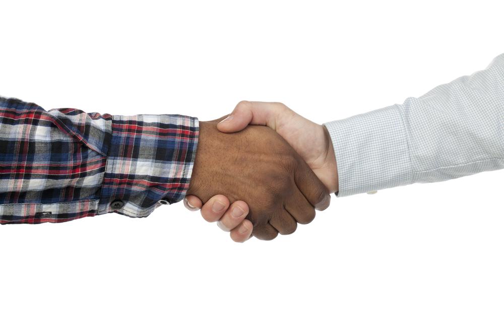 shutterstock shaking hands