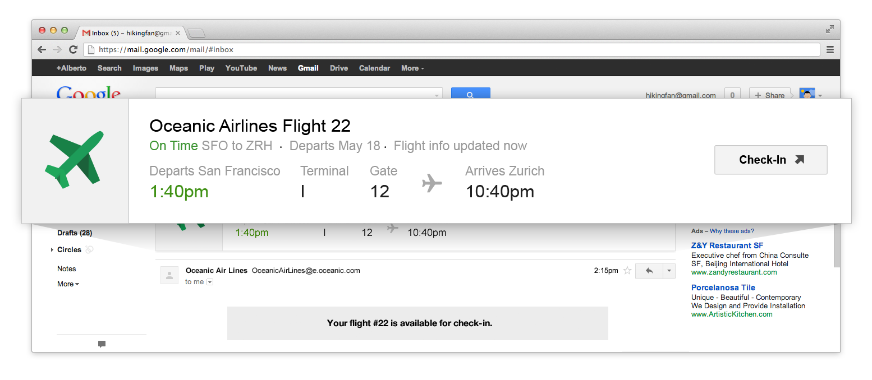 flights at gmail