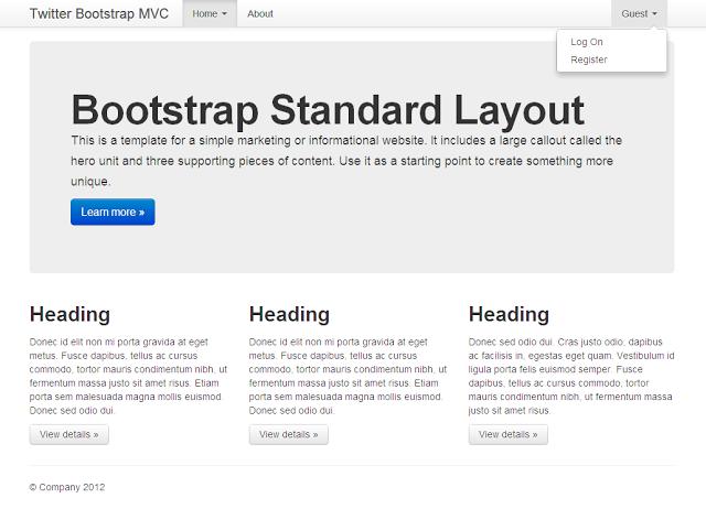 עיצוב ברירת-המחדל של Bootstrap