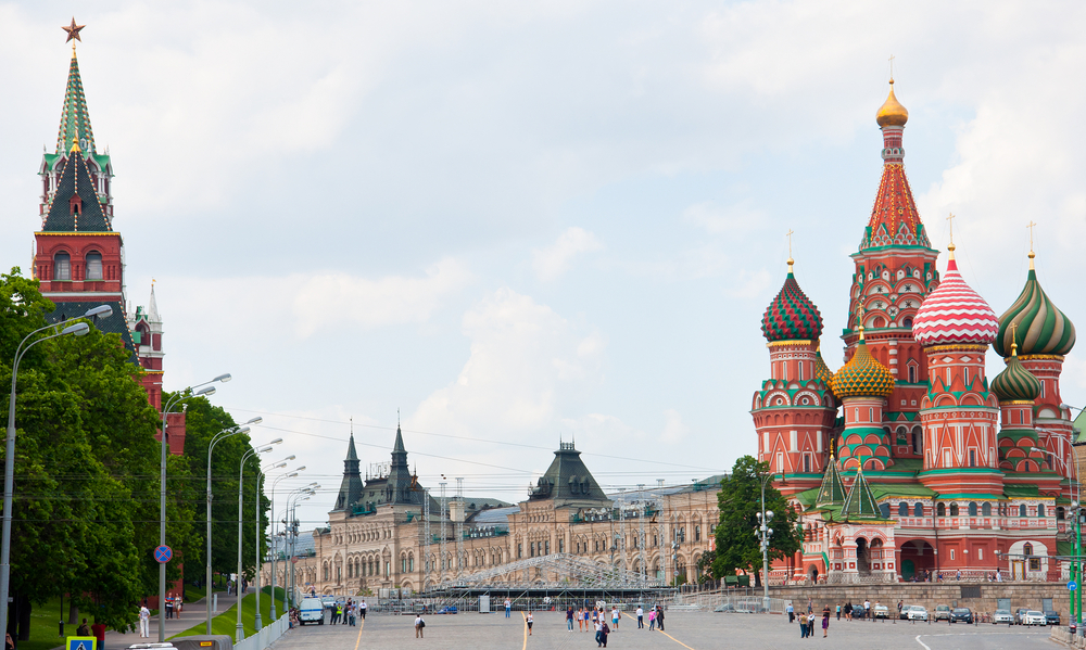 St. Basil's Cathedral and the Kremlin in Moscow, Russia - Shutterstock