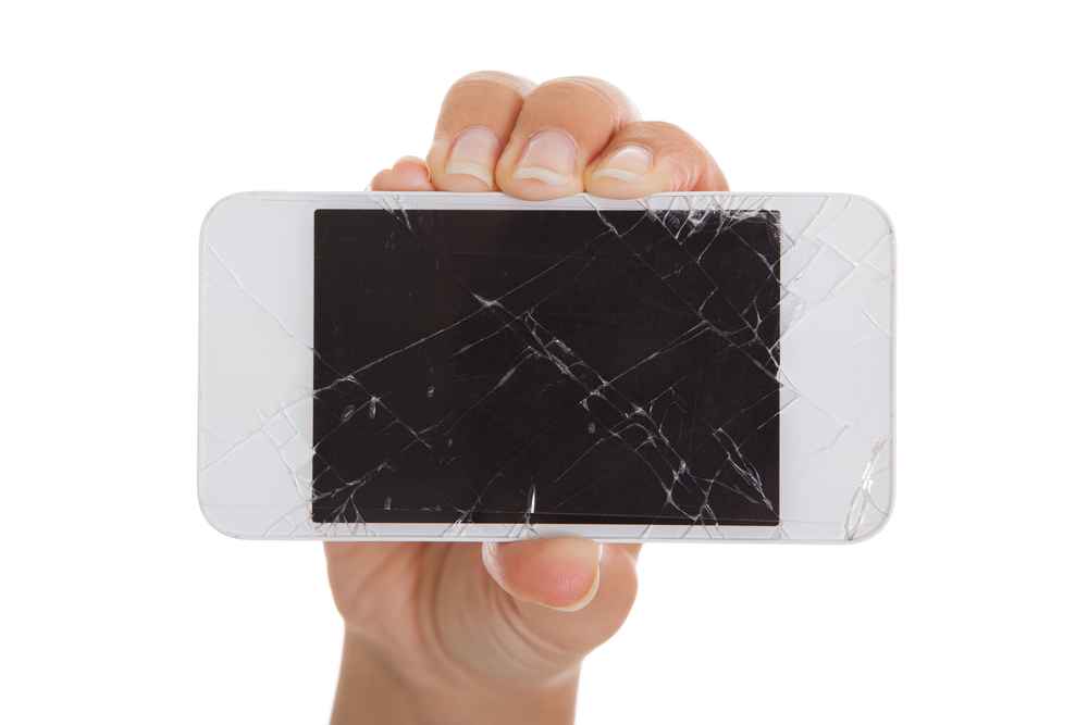 shutterstock broken iphone