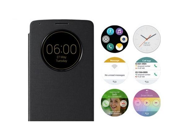 הכיסוי החדש של ה-G3. להשתמש בסמארטפון בלי להדליק את הסמארטפון. מקור: LG