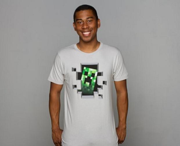 מתנה נפלאה לשבועות? חולצת minecraft. מקור: jinx