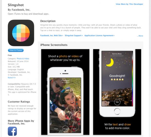 דף האפליקציה ב-AppStore לפני שהוסרה. מקור: צילום מסך
