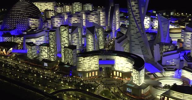 מבט פנורמי על העיר. מקור: סרטון וידאו