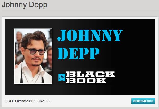 רוצים את פרטי הקשר של ג׳וני דפ? שלמו 50 דולר, או שלא.