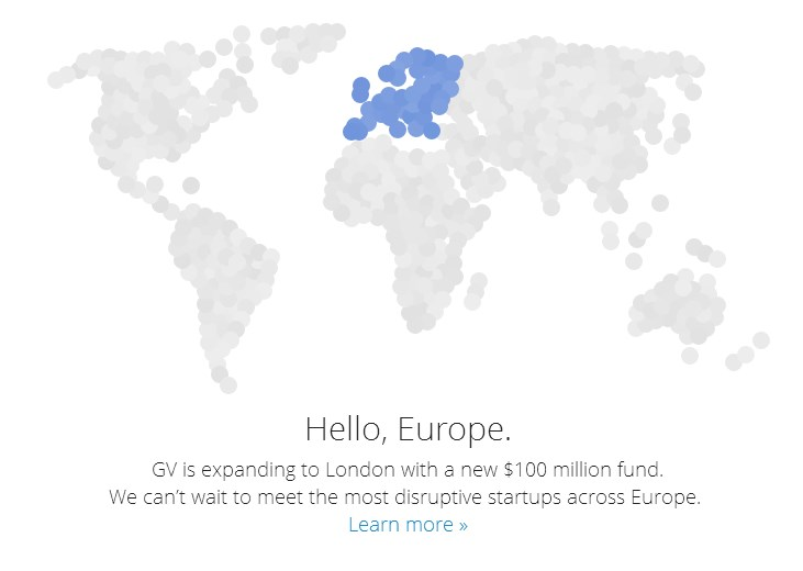 צילומסך, אתר Google Ventures