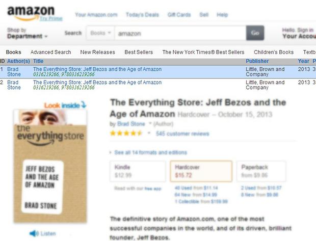 אפילו הספר על ג'ף בזוס מוצע להורדה פיראטית. מקור: צילום מסך