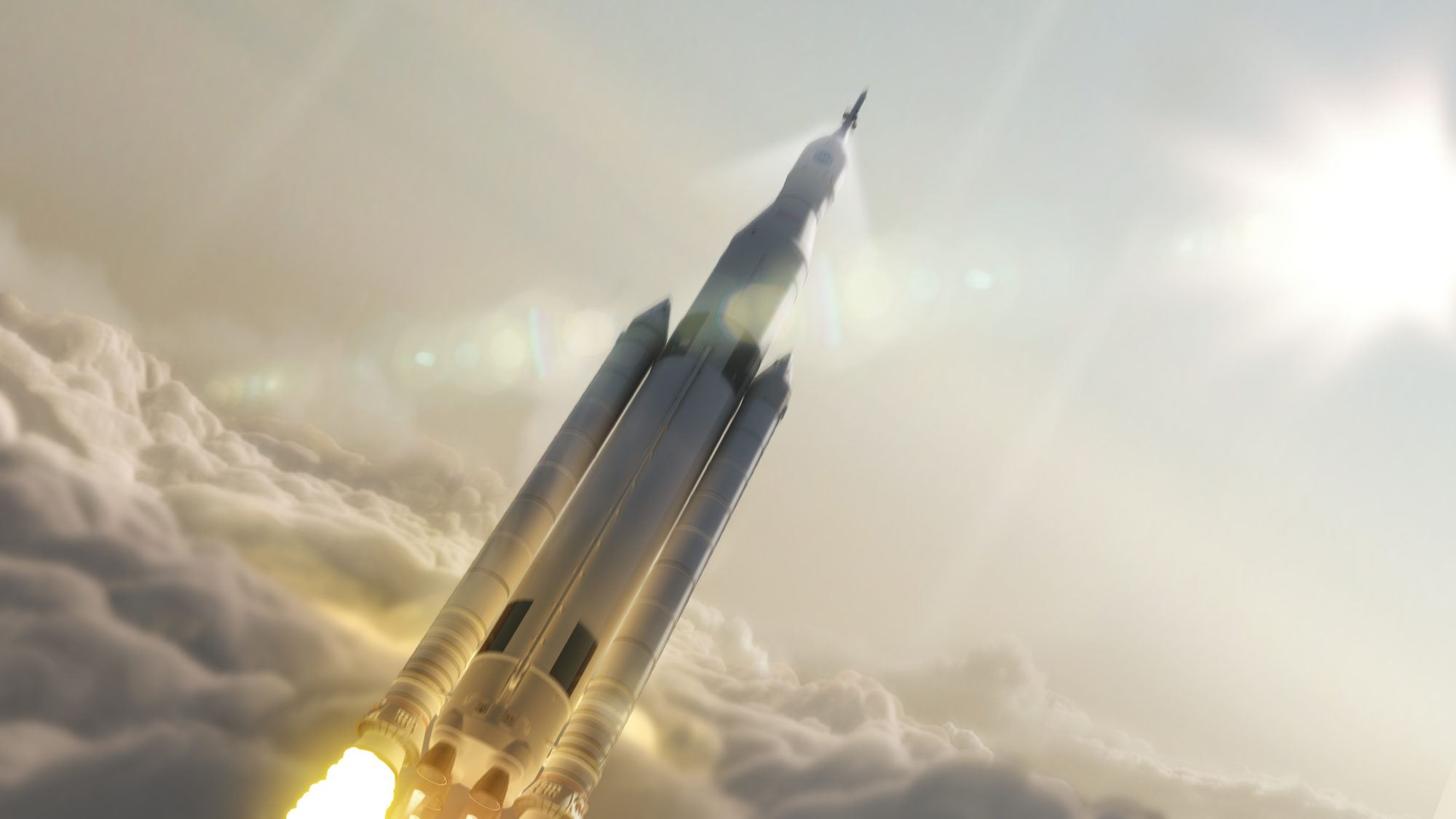 הדמייה של הטיל. מקור: NASA
