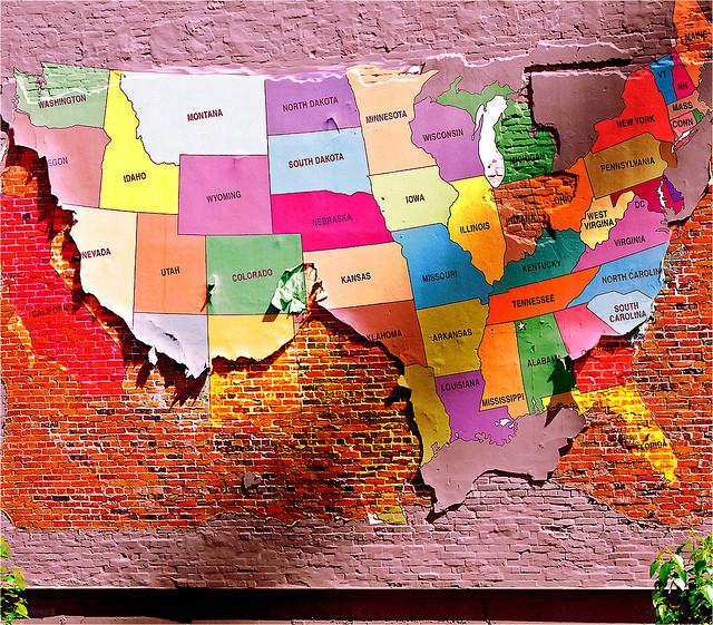 מזרח או מערב? תמונה: usa maps cc-by, Don Hankins