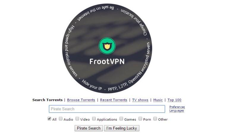 דף הבית של The Pirate Bay. מקור: צילום מסך