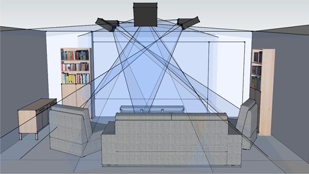 כיסוי מלא של הסלון. מקור: Microsoft