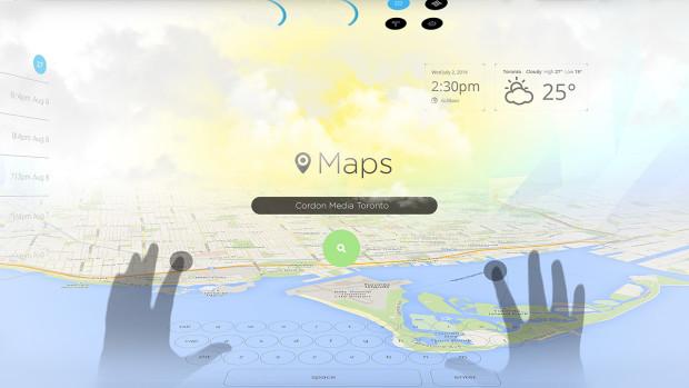 ניווט בעזרת ממשק ה-UI של ה-Pinć - חוויית שימוש שונה מכל מה שהיכרנו. מקור: Pinć