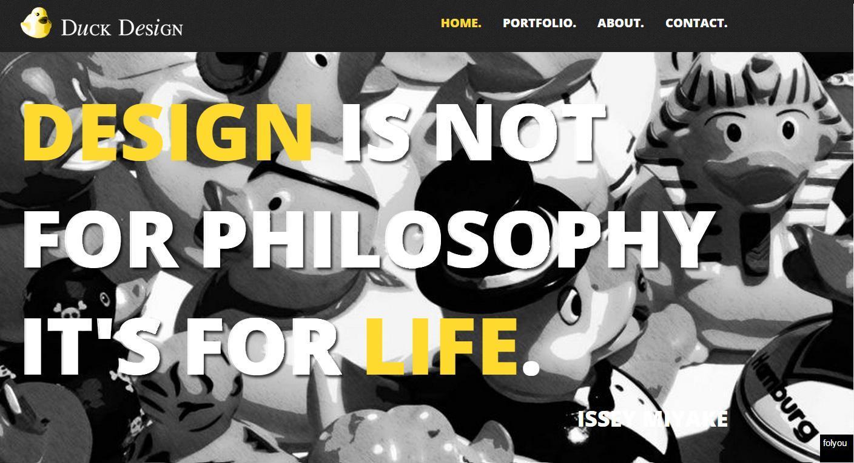 (צילום מסך www.duck-design.co.il)