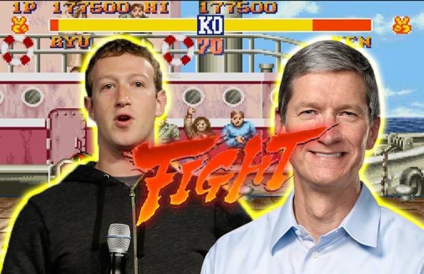 Fight. מקור: Facebook, Apple, עיבוד תמונה