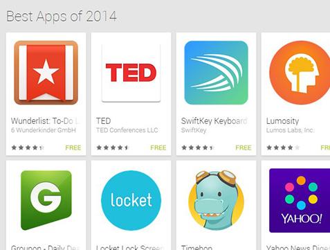 הטובות ביותר של 2014. מקור: Google Play