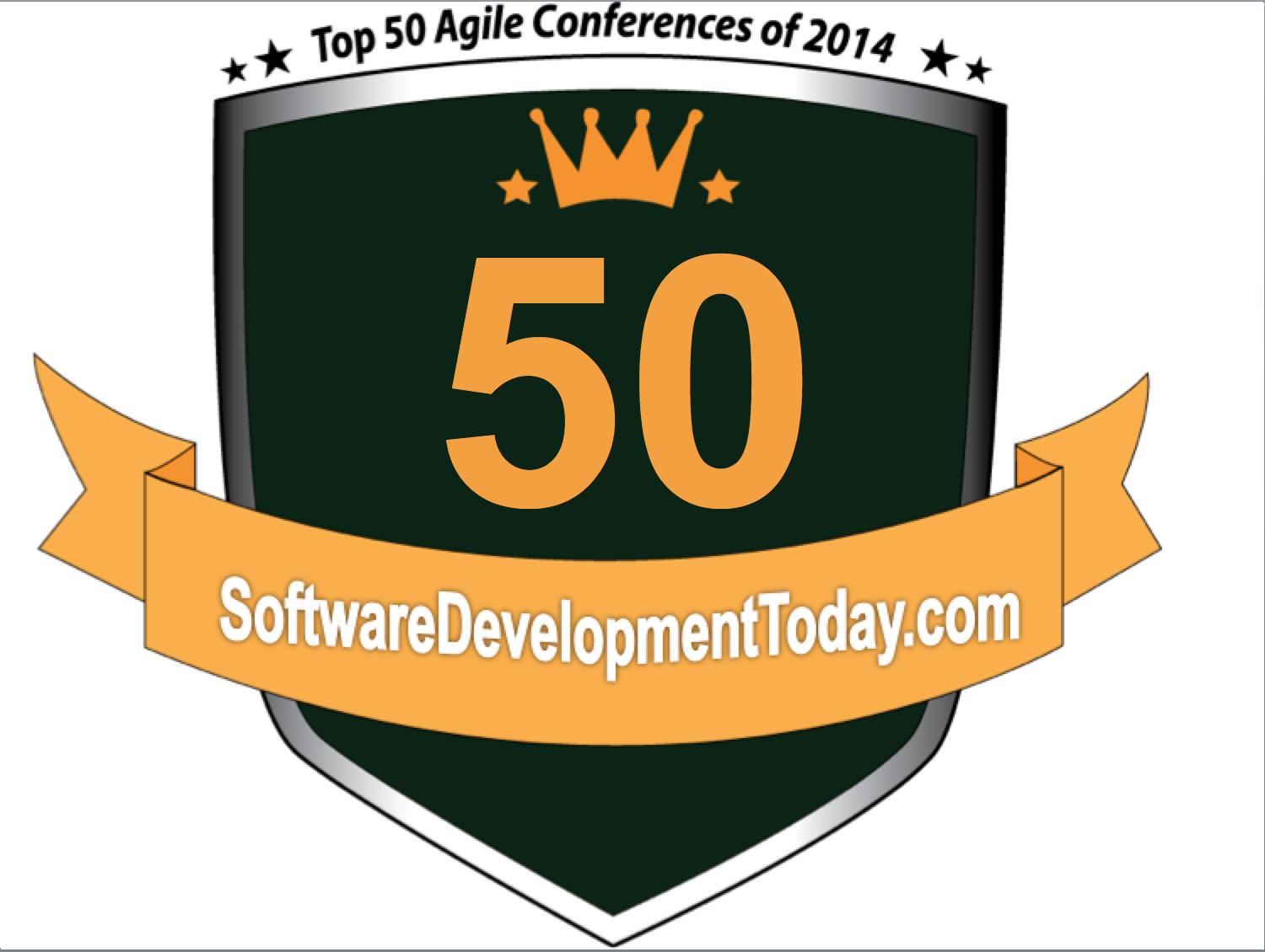 Top 50 Agile Conferences 2014 award