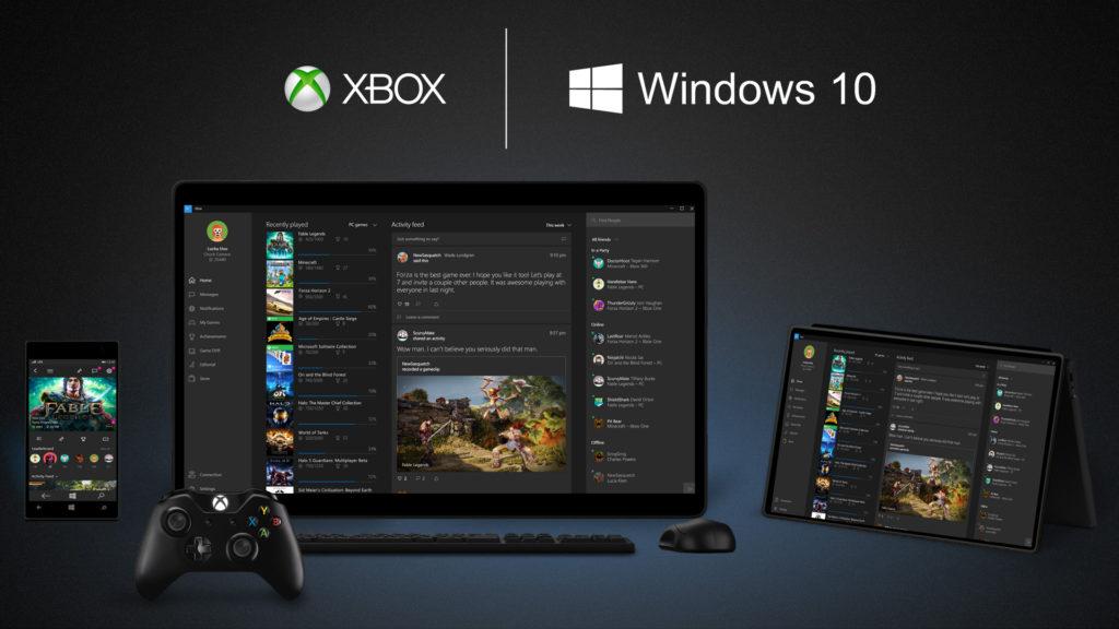 שילוב בין ה-Xbox לחלונות 10 בכל המכשירים. מקור: Microsoft